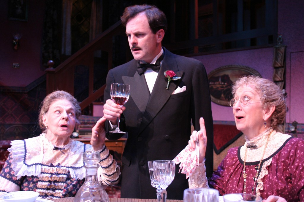 Ionia Zelenka, Jonathan Putnam and Linda Dorff in ARSENIC AND OLD LACE by Joseph Kesselring