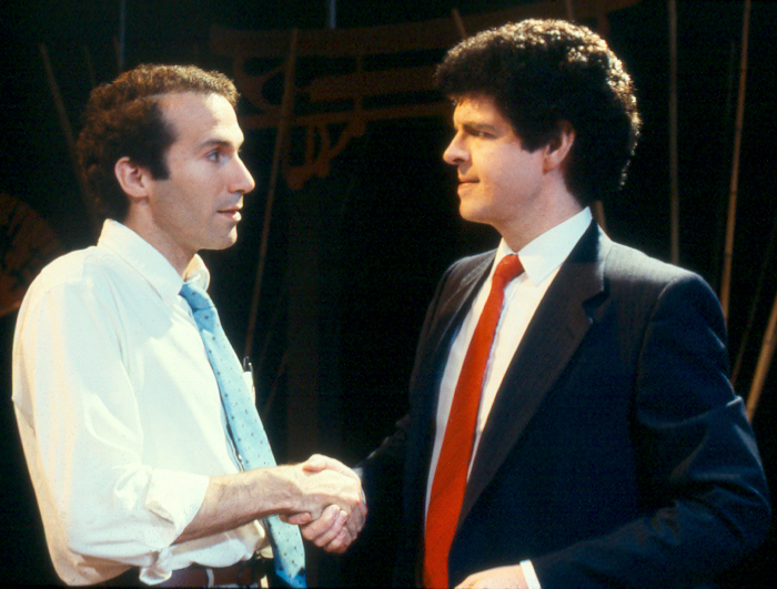 Ken Erney and Geoffrey Nelson in David Mamet's GLENGARRY GLEN ROSS