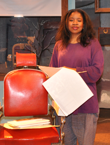 Playwright Chiquita Mullins Lee on the set of the 2010 CATCO production.