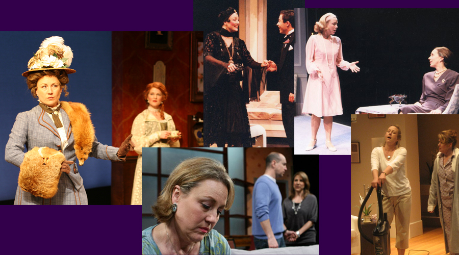 Anne Diehl in (clockwise from upper left) BOSTON MARRIAGE, DANGEROUS CORNER, THREE TALL WOMEN, THE CLEAN HOUSE and NEXT FALL