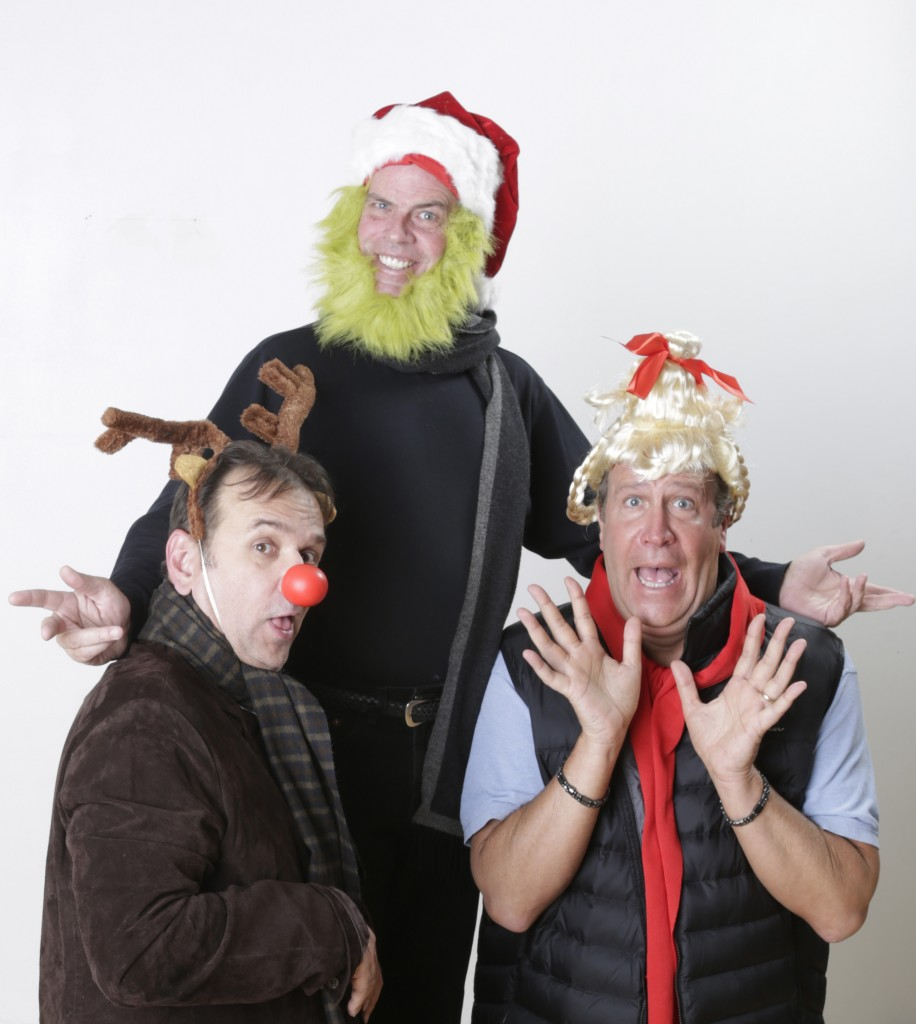 APT PR 1 (300 dpi) - Grinch with Tim Browning as Max the dog, Todd Covert as the Grinch and Ralph Scott as Cindy Lou Who