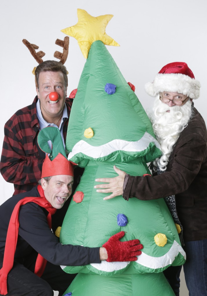 APT PR 2 - Todd Covert (lower left) as Elf, Ralph Scott as Rudolph and Tim Browning as Santa