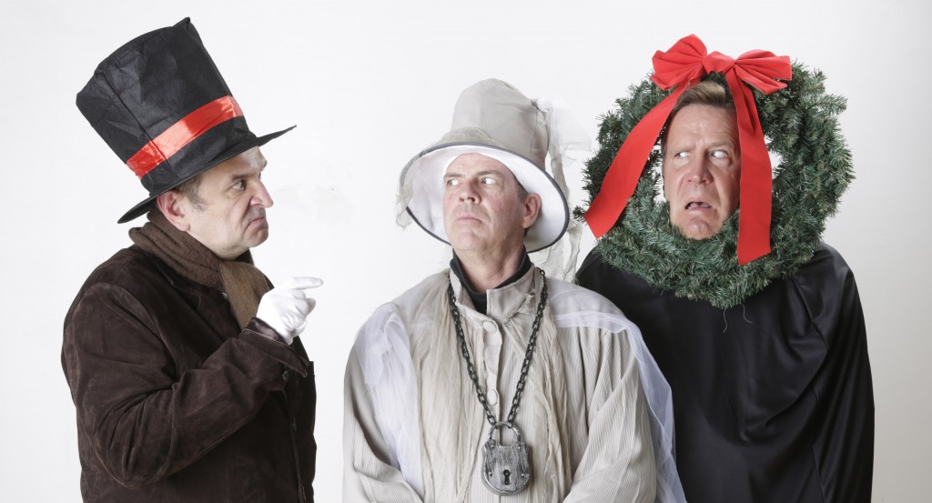 APT PR 4 - Tim Browning as Scrooge, Todd Covert as Marley's Ghost & Ralph Scott as the Ghost of Xmas Past