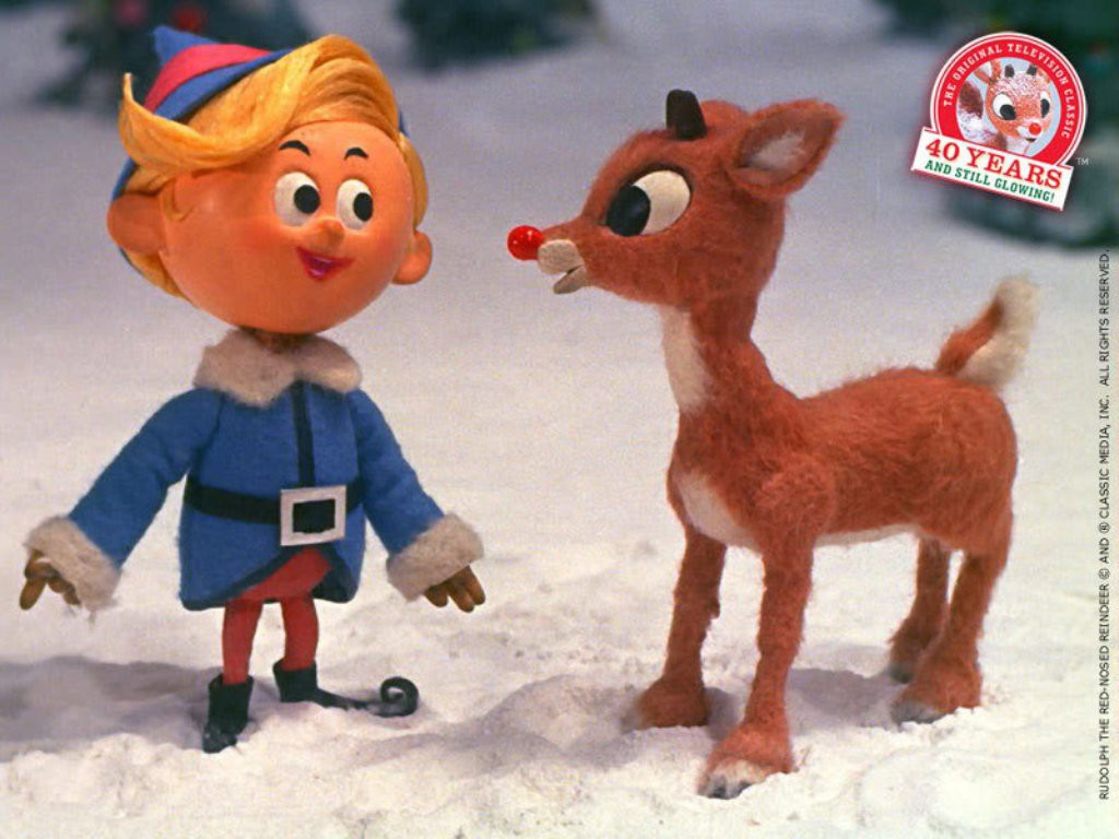 Hermie, the would-be dentist elf, and Rudolph in the classic television adaptation