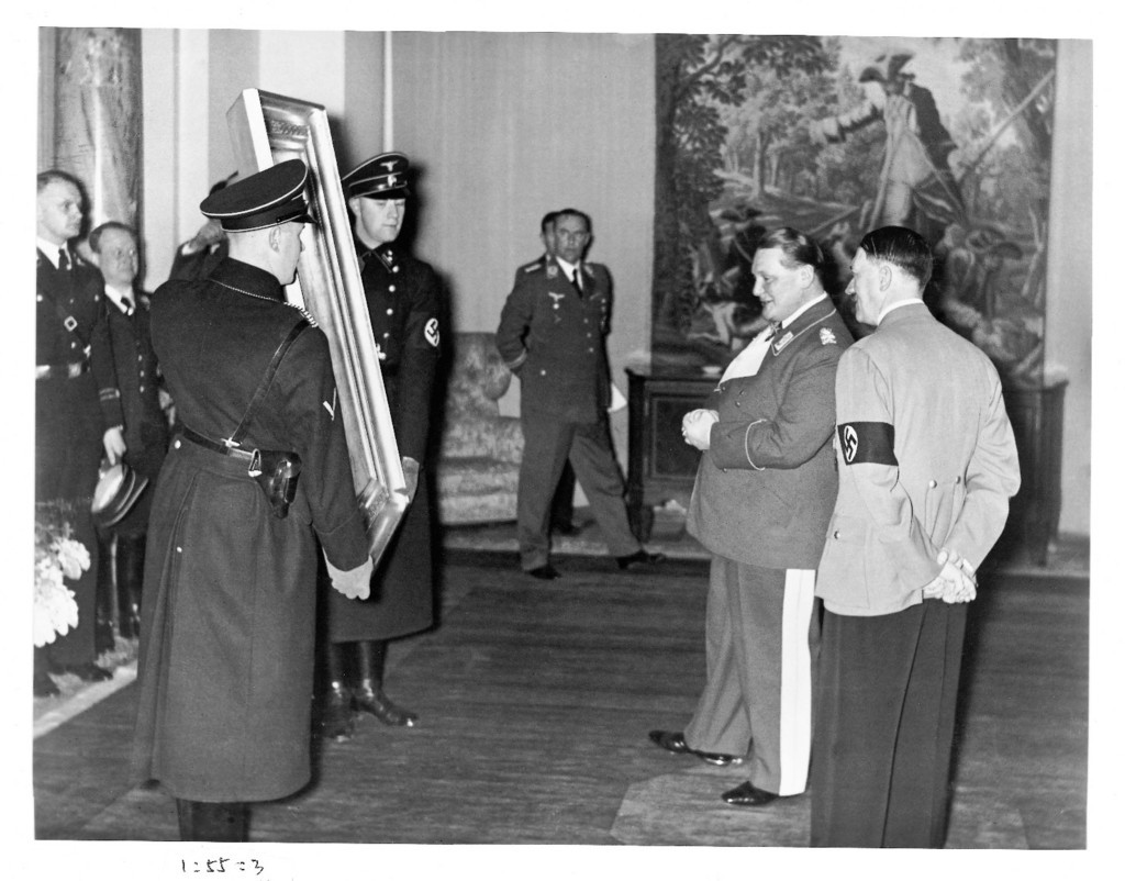 Hitler and Goering admire looted art
